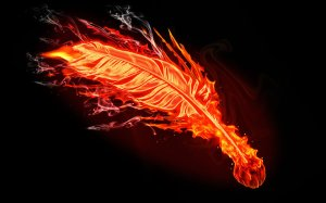 Fire Feather by brent the claw at brent-the-claw.deviantart.com