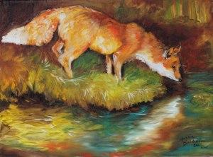 Red Fox from mbaldwinfineart.blogspot.com