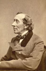 Hans Christian Andersen photo by Thora Hallager 1869