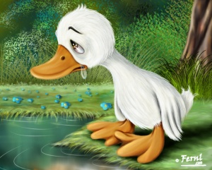 Ugly Duckling crying by Fernl 2010