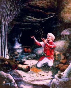 Ali Baba in the cave of 40 thieves
