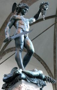 Cellini sculpture of Perseus holding Medusa's head
