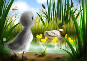 the ugly duckling by angeline valentius on http://angeline-valentius.deviantart.com/art/the-ugly-duckling-269759246