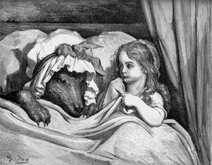 little red riding hood and the wolf classic image