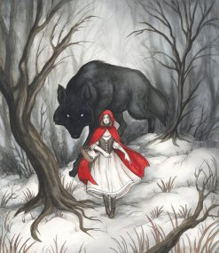 little red riding hood, wolf