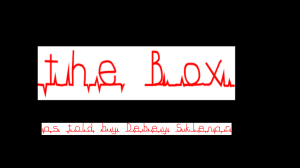 "Title Slide from ""The Box"" Japanese Folk Tale Digital Story"