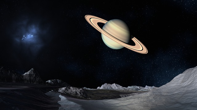 Planet Saturn image by DasWortgewand on https://pixabay.com/en/space-saturn-science-fiction-54999/