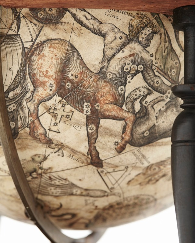 Centaurus Constellation depicted on a globe at the Skokloster Castle, photo in the public domain courtesy https://commons.wikimedia.org/wiki/File:Kentauren,_1602_-_Skoklosters_slott_-_102438.tif