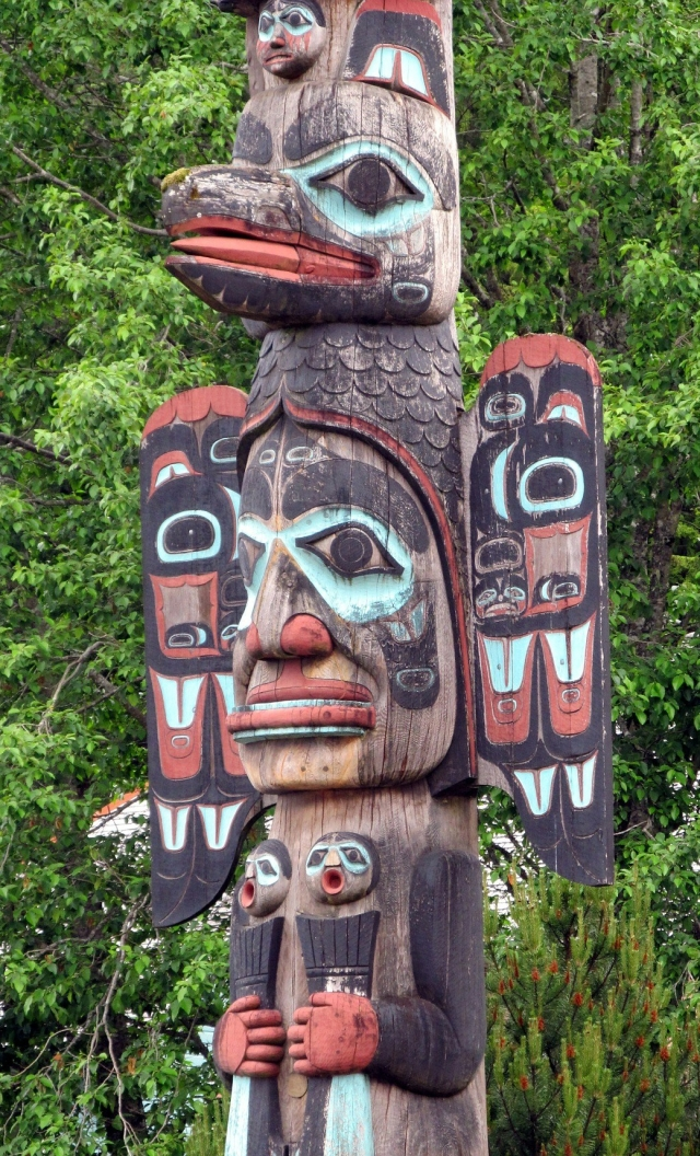Alaskan Totem Pole From Public Domain Pictures on Pixabay at https://pixabay.com/en/totem-pole-faces-alaska-american-21040/