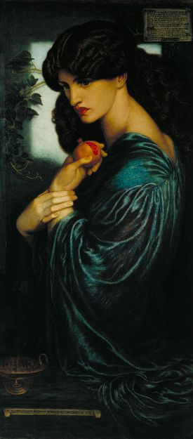 Proserpine by Dante Gabriel Rossetti (1828 – 1882) currently held at the Tate in Great Britain. Public Domain. https://commons.wikimedia.org/wiki/File:Dante_Gabriel_Rossetti_-_Proserpine_-_Google_Art_Project.jpg