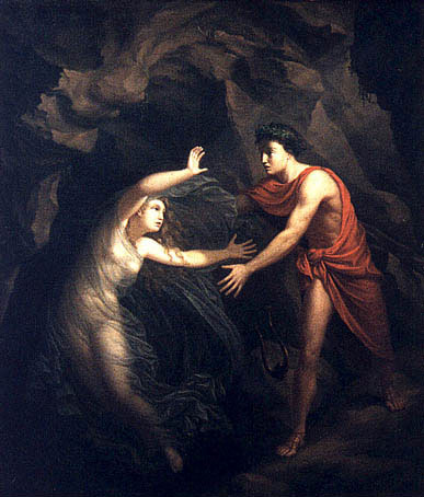 Orpheus and Eurydice by Christian Gottlieb Kratzenstein-Stub (1783 – 1816) currently held at the Ny Carlsberg Glyptotek. Public Domain. https://commons.wikimedia.org/wiki/File:Kratzenstein_orpheus.jpg