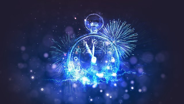 New Year's countdown clock in fireworks celebration image by Markéta Machová on Pixabay at https://pixabay.com/illustrations/new-year-pf-pour-f%C3%A9liciter-4656853/